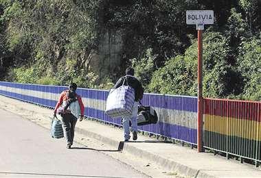 La frontera al sur es controlada por fuerzas policiales y militares de Bolivia y Argentina