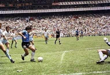 El gol de Maradona a Inglaterra en el Mundial de México 1986. Foto: internet