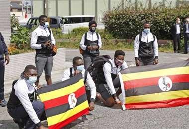 Miembros de la delegación de Uganda en Japón. Foto: Internet