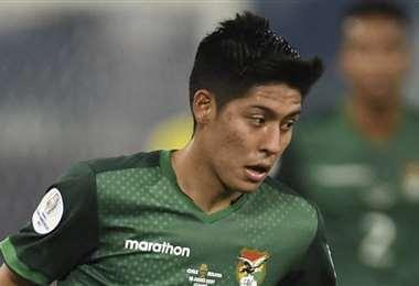 Ramiro Vaca fue titular en el anterior cotejo contra Chile. Foto: AFP