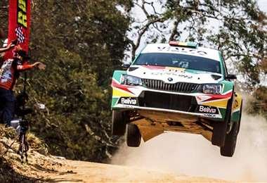 Marco Bulacia W. ganó la última edición de este rally en 2019. Foto: El Deber