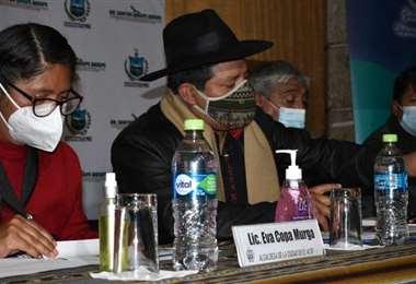 Las tres principales autoridades de La Paz (Foto: APG Noticias)