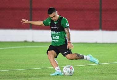Henry Vaca entrenó este martes con el resto de sus compañeros de selección. Foto: FBF