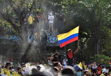 Protestas en Colombia. Foto AFP