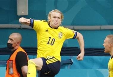 Suecia se quedó con el primer puesto del grupo E. Foto: AFP
