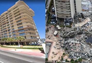 El edificio que se derrumbo hoy en la madrugada en Miami