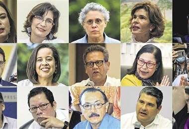 Composición gráfica de los líderes opositores nicaragüenses que han sido detenidos