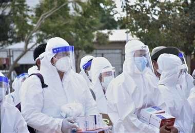 El Ministerio de Salud destino 44 médicos para reforzar las brigadas de la Alcaldía.