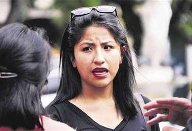 Evaliz, hija del expresidente Evo Morales | Foto: Archivo