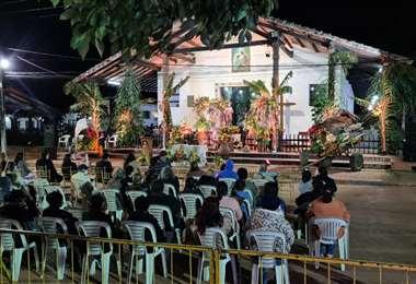 Foto Jorge Gutiérrez: solo 20 personas fueron invitadas a la festividad por San Juan.
