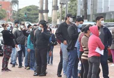 Foto Juan Carlos Torrejón: los contagios acumulados de coronavirus bordean los 150 mil.
