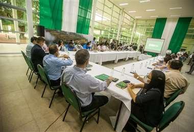 La reunión de realizó esta tarde en el Centro de Educación Ambiental.