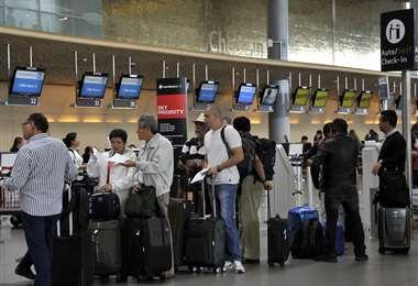 La atención en los aeropuertos es normal (Foto: Internet)