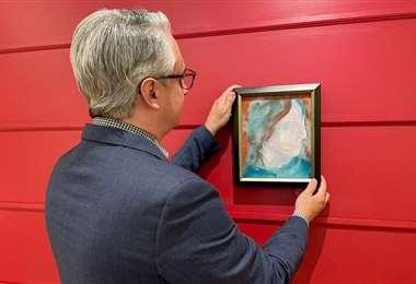 Este es el cuadro pintado por Bowie y vendido en miles de dólares