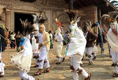 ritual de los yarituses en San Javier. Foto: Archivo
