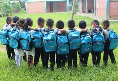 El organismo internacional apoya el desarrollo de niños en edad escolar
