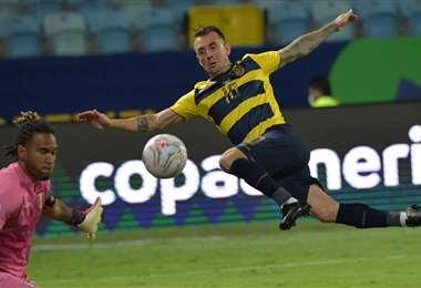 Díaz fue titular contra Perú y jugó unos minutos ante Colombia. Foto: AFP