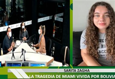 Foto captura de pantalla: Sarita Zagha, desde Miami, estuvo en contacto con El Deber Radio