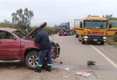Foto redes sociales: en estas condiciones quedó la camioneta de los afectados.