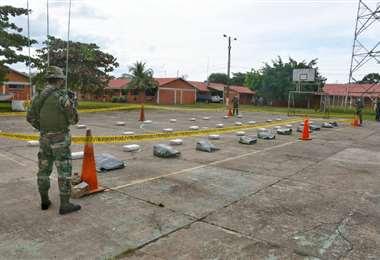 Fueron más de 300 kilos de droga que se secuestraron, la cual iba a ser llevada a Brasil.