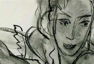 Detalle del dibujo de Matisse