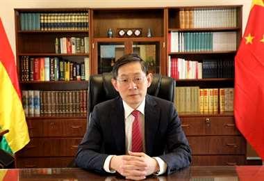 Yazhong espera que China aumente su participación en la economía boliviana (Foto: ABI)