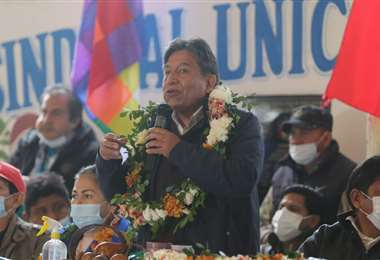Choquehuanca dijo que todos los bolivianos tienen derecho a la tierra/Foto: JC Torrejón