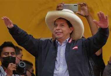 Castillo ganó con estrecho margen la segunda vuelta electoral/Foto: AFP
