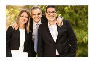 Ejecutivos de Amaszonas: Alexia Viruez, Sergio Urioste y Gary Rivero