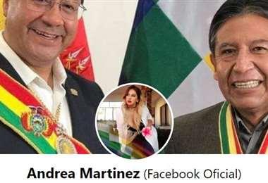 Así aparece el muro de Andrea Martínez en Facebook