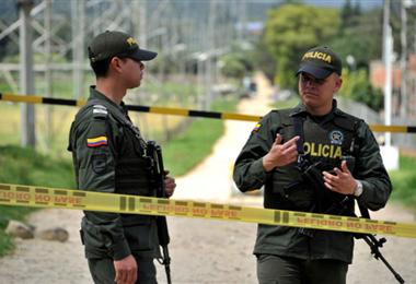 Policías colombianos en una imagen de archivo