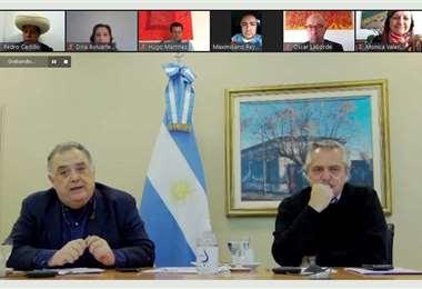 En la reunión virtual participaron varios jefes de Estado/Foto: Telam
