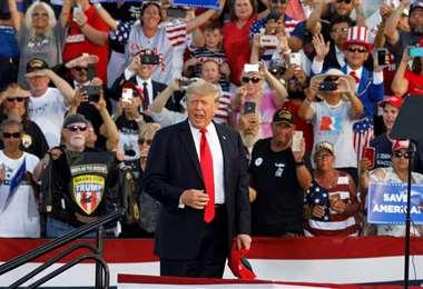 Trump en el mitin de este sábado en Ohio