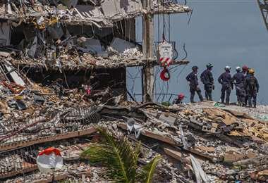 Las tareas de rescate continúan en Florida.