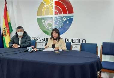 Conferencia de prensa de Nadia Cruz I Defensoría del Pueblo.