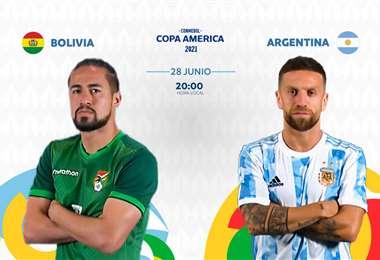 Bolivia vs Argentina medirán fuerza este lunes en Cuiabá. FOTO: Conmebol