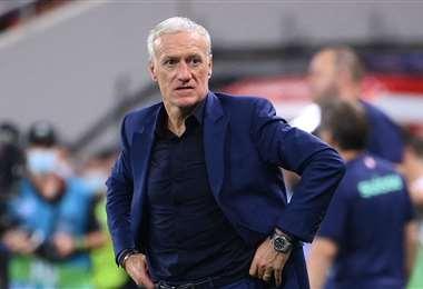 Didier Deschamps fue crítico con su propio planteamiento. Foto: AFP