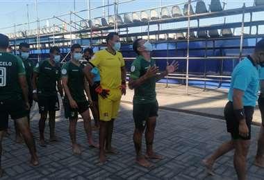 El equipo boliviano en Río de Janeiro. Foto: FBF