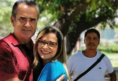 La periodista boliviana abraza a su padre, Joselo Iriarte, ya repuesto del coronavirus