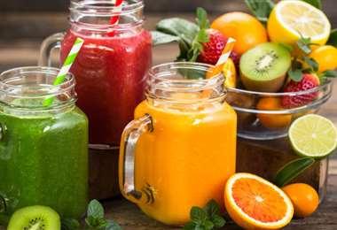 Los jugos de frutas son una buena opción