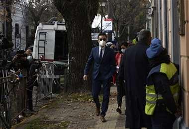 Leopoldo Luque arriba a la Fiscalía para brindar su declaración