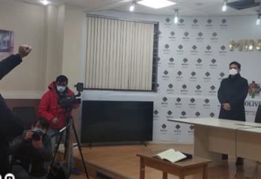 Nuevo director ejecutivo del Ceass, Juan Nacer Villagómez. Foto: Bolivia TV