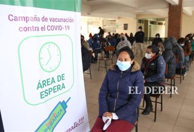 Centro de vacunación Rancho Nuevo. Foto. Juan Carlos Torrejón