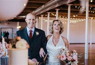 Pareja en su segunda boda