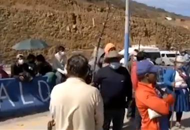 El bloqueo se había instalado en el cruce a Tarata