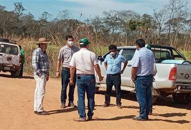 Comisión visita las propiedades avasalladas en San José de Chiquitos