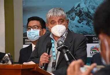 El alcalde Arias en conferencia de prensa I AMN.