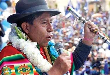 El vicepresidente David Choquehuanca.