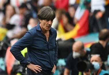 Joachim Löw dirigió este martes su último partido como DT de Alemania. Foto. AFP