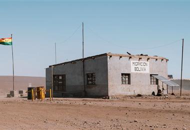 Hito Cajón es uno de los pasos fronterizos entre Bolivia y Chile. Fotio. Internet